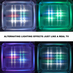 Fake TV Extra Bright Burglar Deterrent Light TV Simulator Simulating the Light of a 40 Inch HDTV