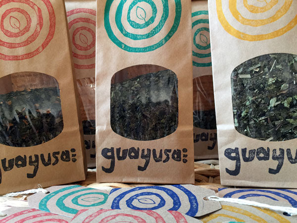 The final printed packs of guayusa