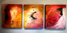 "'April 006'  - 48"" X 20"" Original Abstract  Art.  Free-shipping within USA & 30 day return."