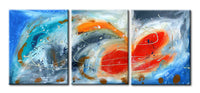 "'Breeze'  - 48"" X 20"" Original Abstract  Art."