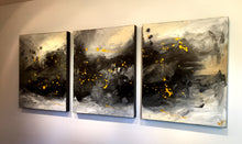"'Gray area'  - 48"" X 20"" Original Abstract  Art. Free-shipping within USA & 30 day return Policy."