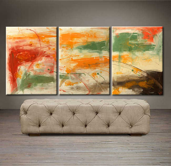 "'African Sunset'  - 54"" X 24"" Original Abstract  Art. Free-shipping within USA & 30 day return Policy."
