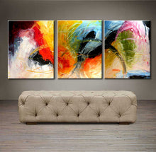 "'April 001'  - 48"" X 20"" Original Abstract  Art.  Free-shipping within USA & 30 day return."