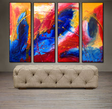 "'April015'- 48"" X 30"" Original Abstract  Art.  Free-shipping within USA & 30 day return Policy."