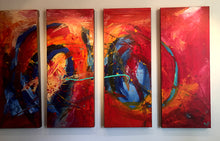 "'April016'- 48"" X 30"" Original Abstract  Art.  Free-shipping within USA & 30 day return Policy."
