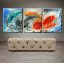 "'Breeze'  - 48"" X 20"" Original Abstract  Art. Free-shipping within USA & 30 day return Policy."
