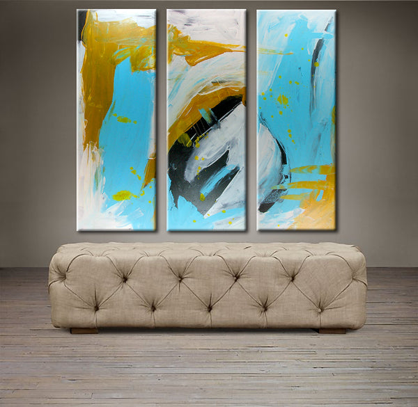 "'April 038' - 36"" X 30"" Original Abstract  Art. Free-shipping within USA & 30 day return Policy."