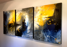 "'April 010'  - 54"" X 24"" Original Abstract  Art.  Free-shipping within USA & 30 day return."