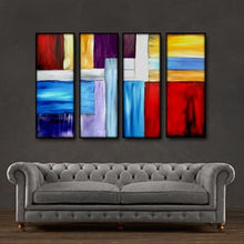 "'Color splash' - 48"" X 30"" Original Art . Free shipping within USA & 30 day return policy. - Lulu's Gallery of Fineart"