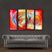 "'Morning dance' - 48"" X 30"" Original Abstract Art Painting - Lulu's Gallery of Fineart"