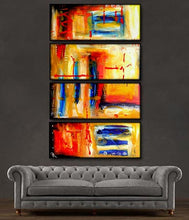 "'Color splash II' - 48"" X 30"" Original Abstract Art Painting - Lulu's Gallery of Fineart"