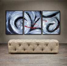 "'Still of the night' - 48"" X 20"" Original Abstract Art Painting - Lulu's Gallery of Fineart"
