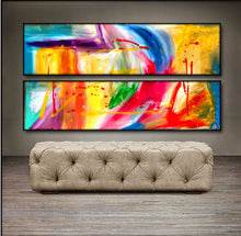 "'Be Still II' - 48"" X 24"" Original Abstract Art . Free shipping within USA & 30 day return policy. - Lulu's Gallery of Fineart"