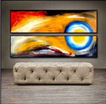 "'Full Moon' - 48"" X 24"" Original  Art . Free shipping within USA & 30 day return policy. - Lulu's Gallery of Fineart"