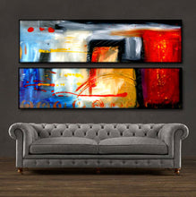 "'At Last'- 48"" X 24"" Original Abstract Art . Free shipping within USA & 30 day return policy. - Lulu's Gallery of Fineart"