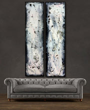 "'Grey Area' - 48"" X 24"" Original Abstract Art . Free shipping within USA & 30 day return policy. - Lulu's Gallery of Fineart"