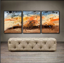 "'Summer Storm'  - 48"" X 20"" Original Paintings . Free shipping within USA & 30 day return policy. - Lulu's Gallery of Fineart"