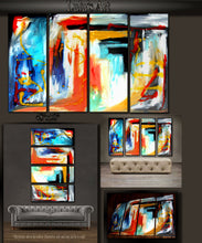"'Inspired' - 48"" X 30"" Original Abstract Art Painting - Lulu's Gallery of Fineart"