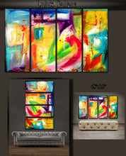 "'Be Still ' - 48"" X 30"" Original Abstract Art Painting - Lulus Gallery - 3"