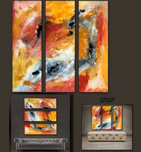 "'Fire Storm I'-36"" X 36"" Original Art . Free shipping within USA & 30 day return policy. - Lulu's Gallery of Fineart"