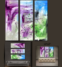 "'Purple  Skies'-36"" X 36"" Original Art . Free shipping within USA & 30 day return policy. - Lulu's Gallery of Fineart"