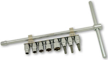 Sliding T-Driver with 8 pcs. Socket Set by CruzTOOLS
