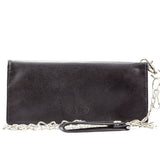 Big Skinny Leather Motorcycle Wallet w/Chain