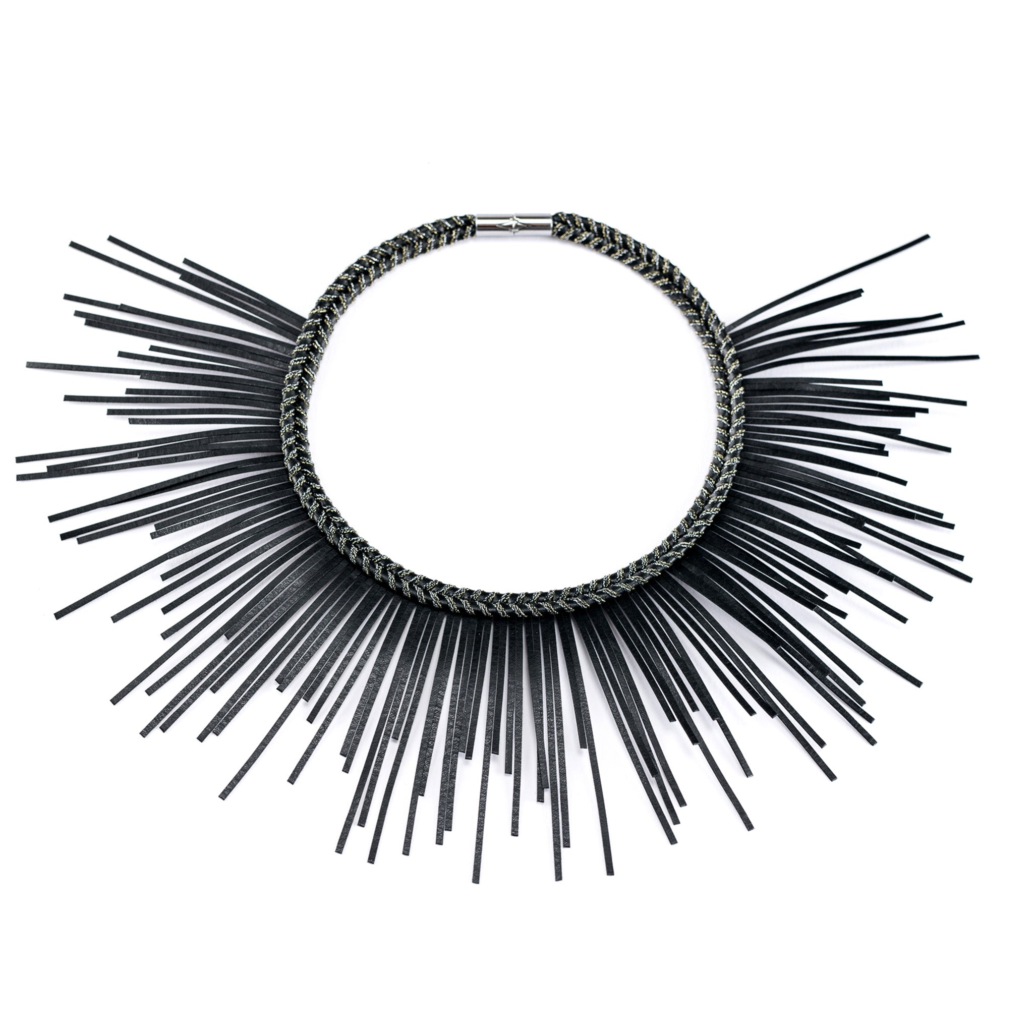 Sunburst Necklace Nero