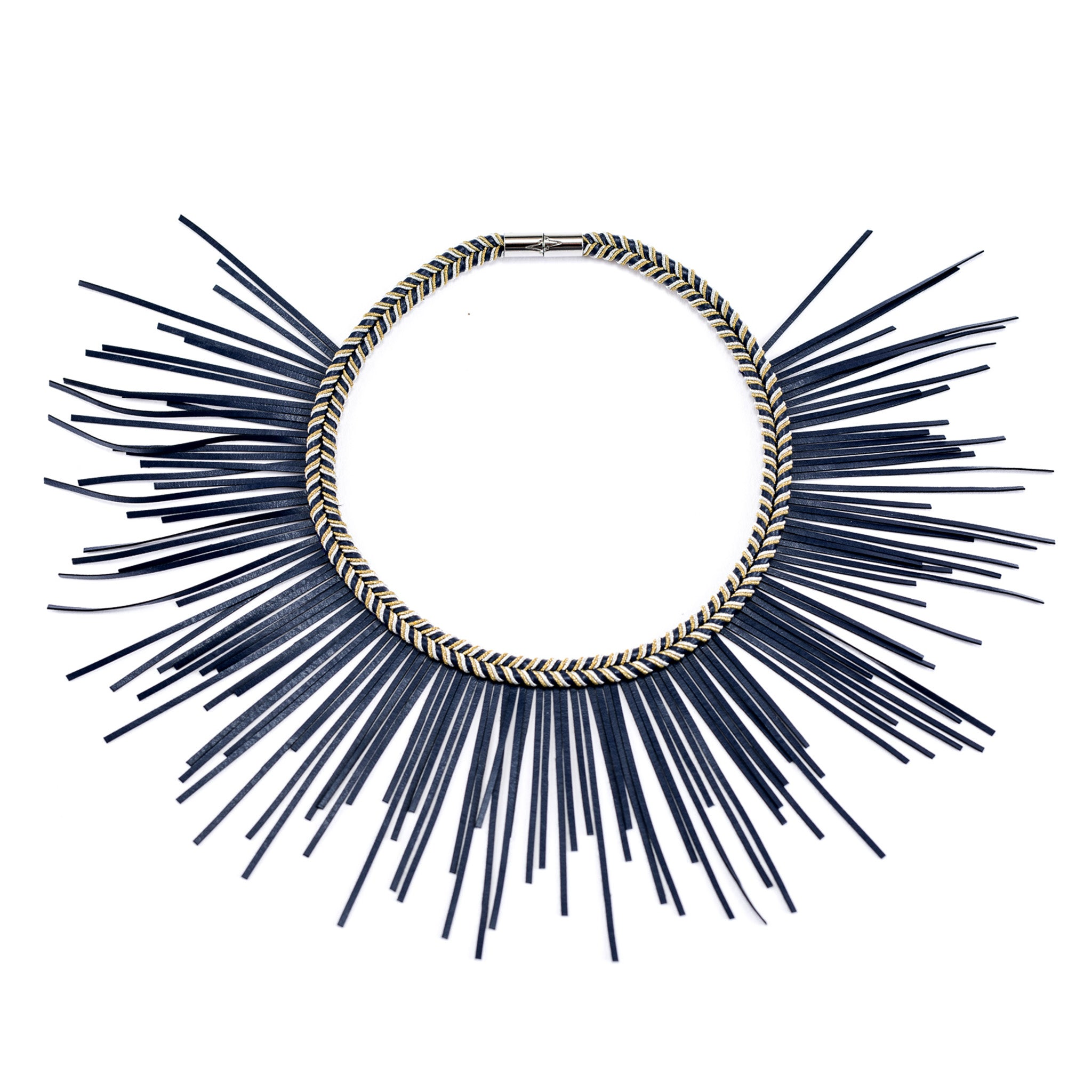 Sunburst Necklace Navy
