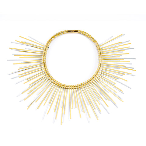 Sunburst Necklace Gold & Silver