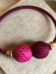 Baller Necklace Berry Pink