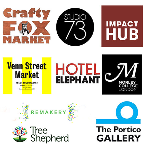 Local community Supporters of Makerhood Lambeth including Crafty Fox, Studio 73, Impact Hub Brixton, Venn Street Markets, Hotel Elephant, Morley College, Tree Shepherd, Remakery, Portico Gallery