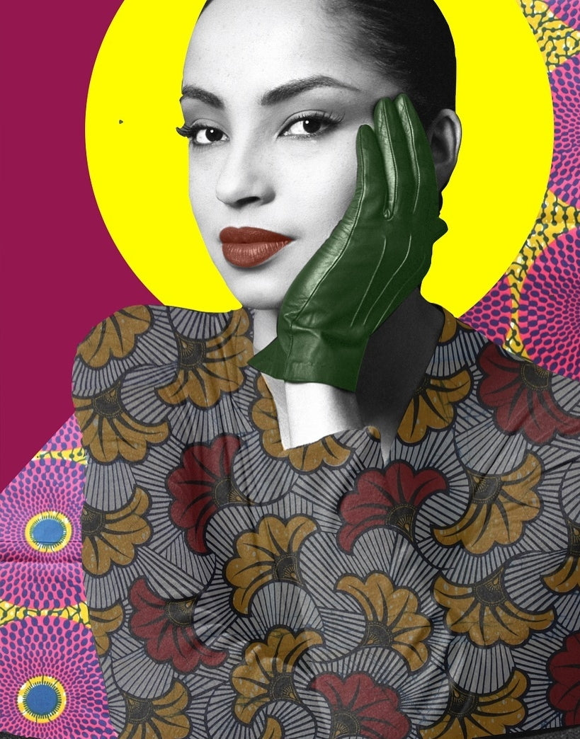 Sade Collage Art Print