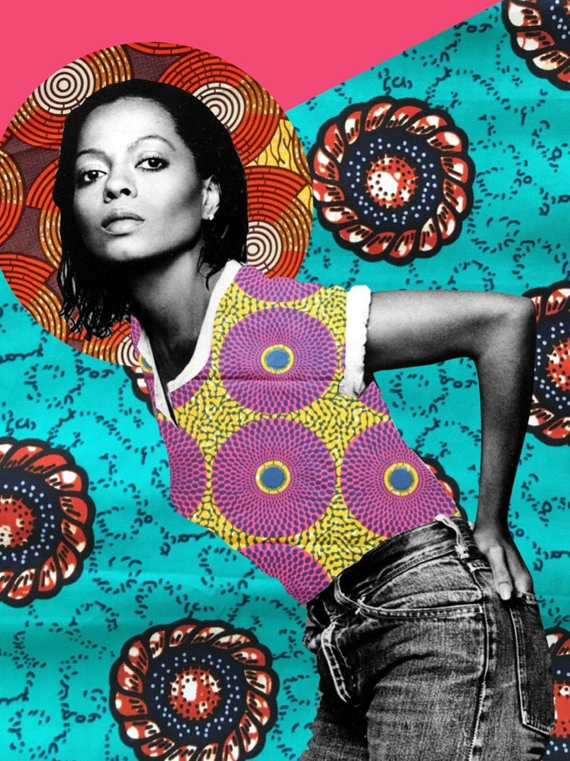 Diana Ross Collage Art Print