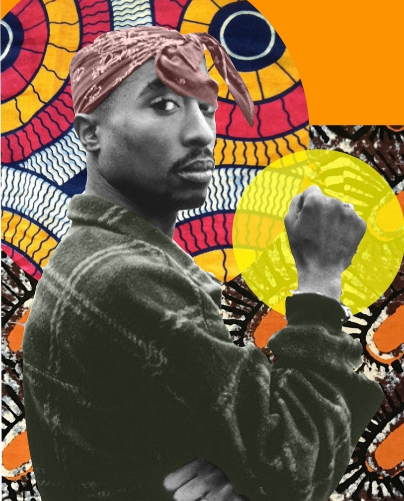 Tupac Collage Art Print