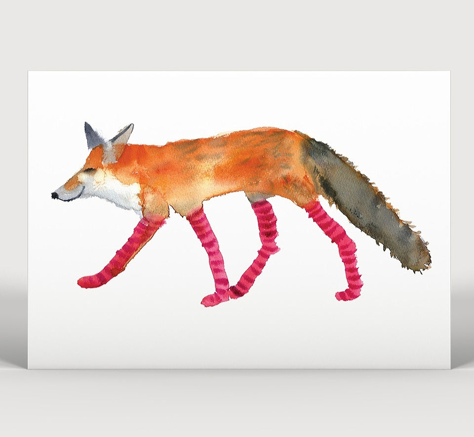 Fox In Socks Art Print