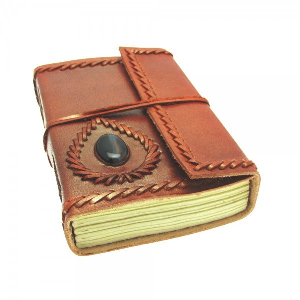 handstitched leather journal, planner, notebook