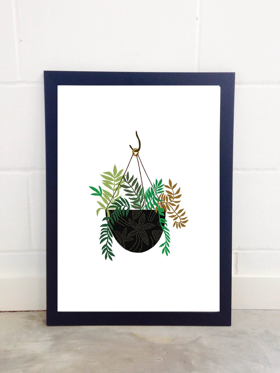 Hanging Fern Basket Art Print