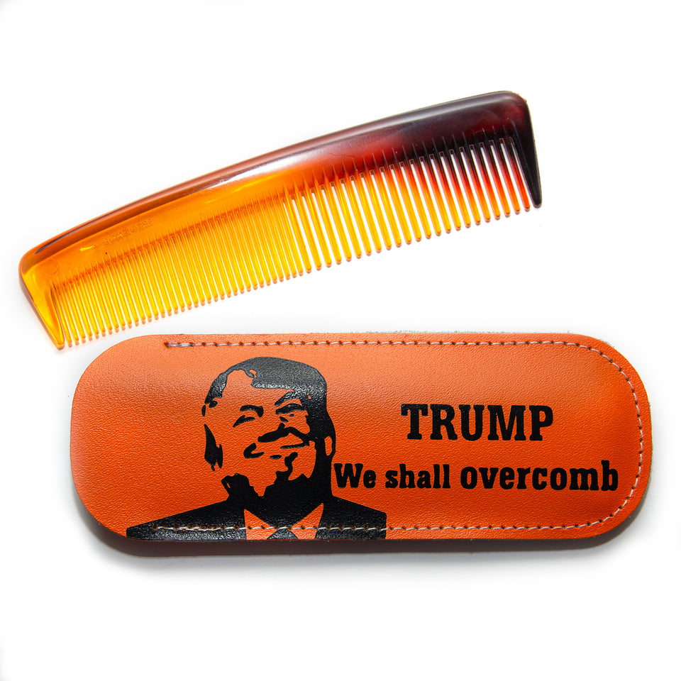 Trump Comb with Leather Case