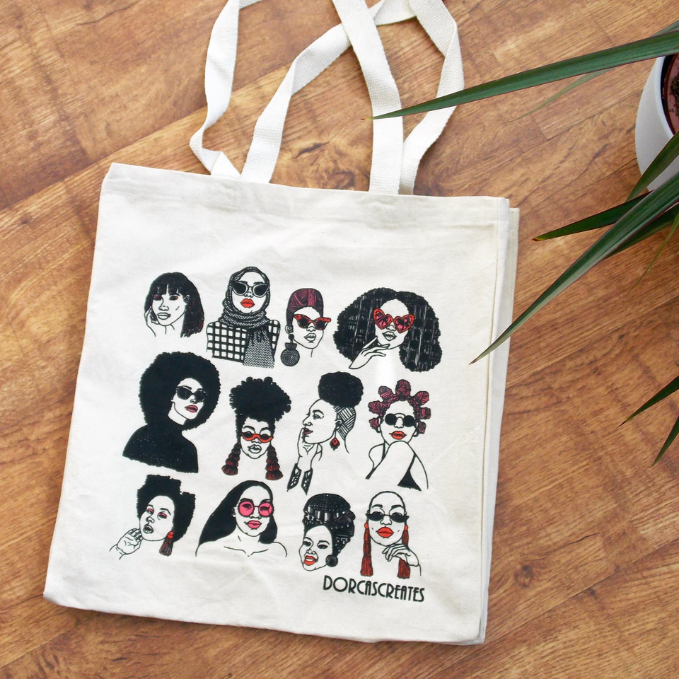 Cool Illustrated Tote Bag - all the woman