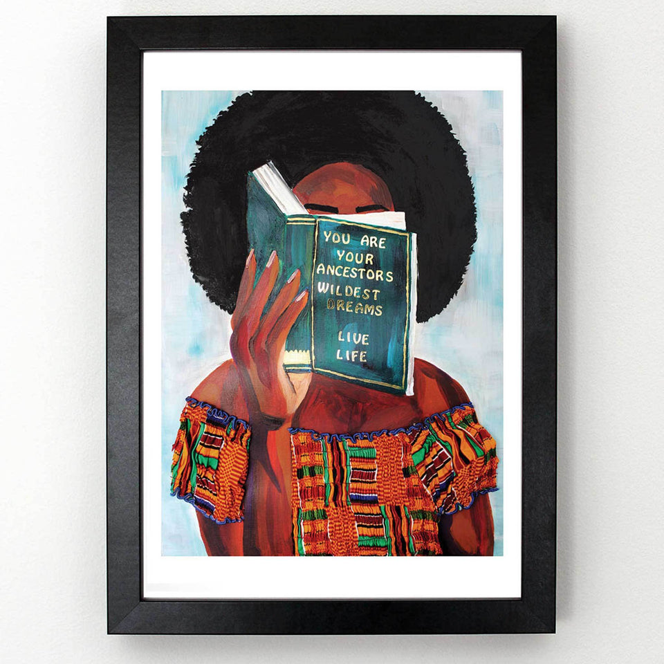 Female Book Lover Art Print