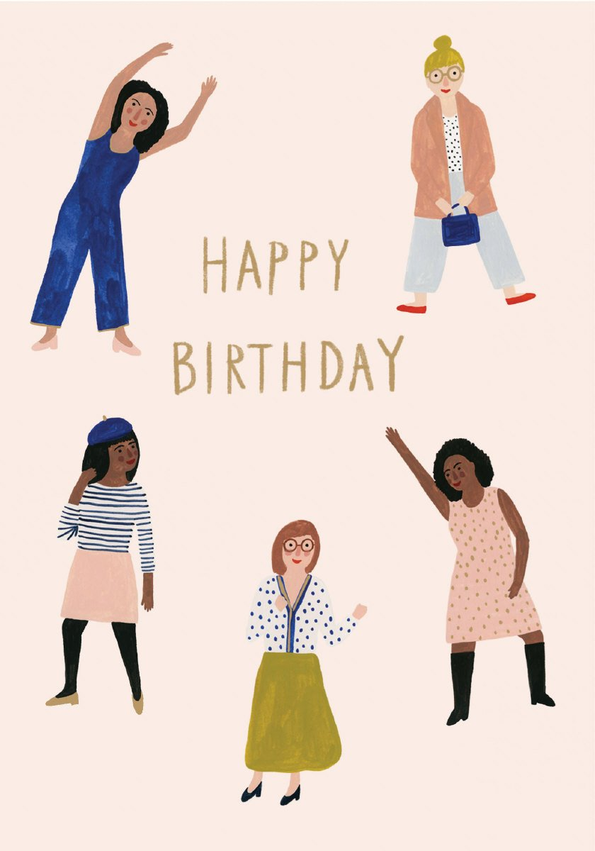 Chicago School Happy Birthday Card (Women)