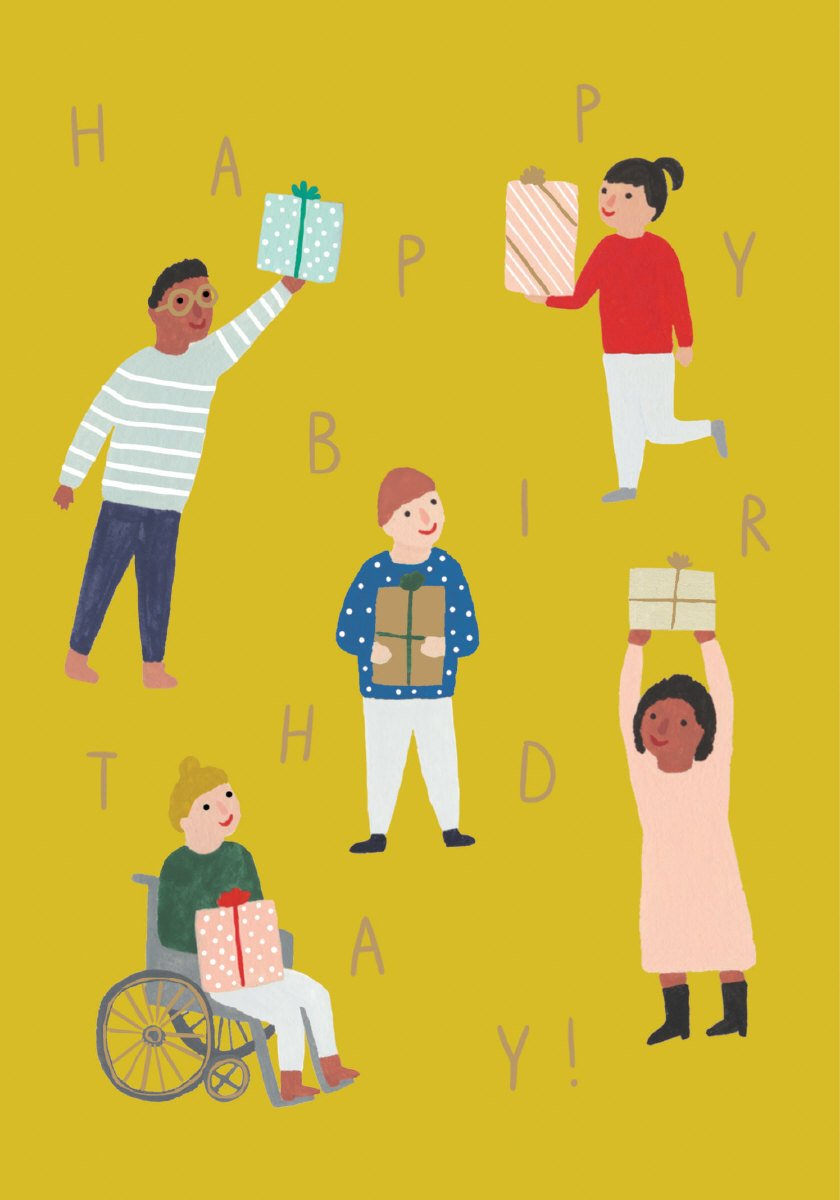 Chicago School Happy Birthday Card (Diverse)