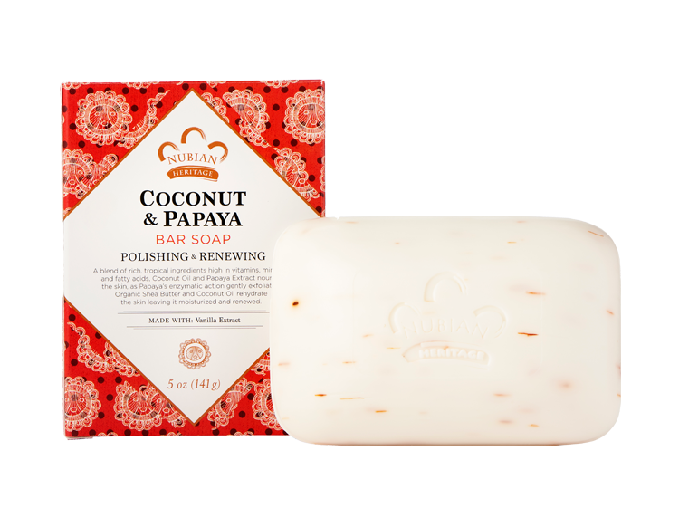 Nubian Heritage Coconut and Papaya soap