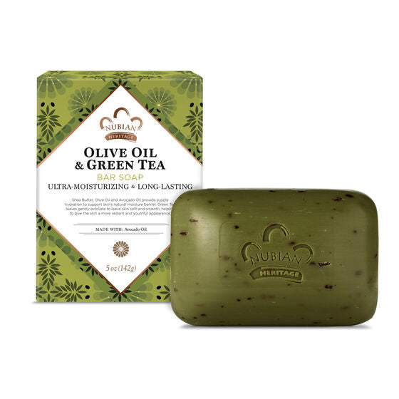 Nubian Heritage Olive Oil and Green Tea Soap