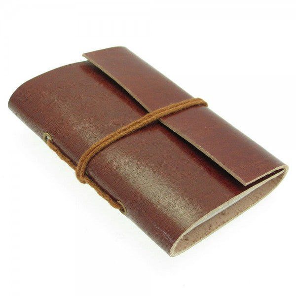 Mini Plain Leather Notebook
