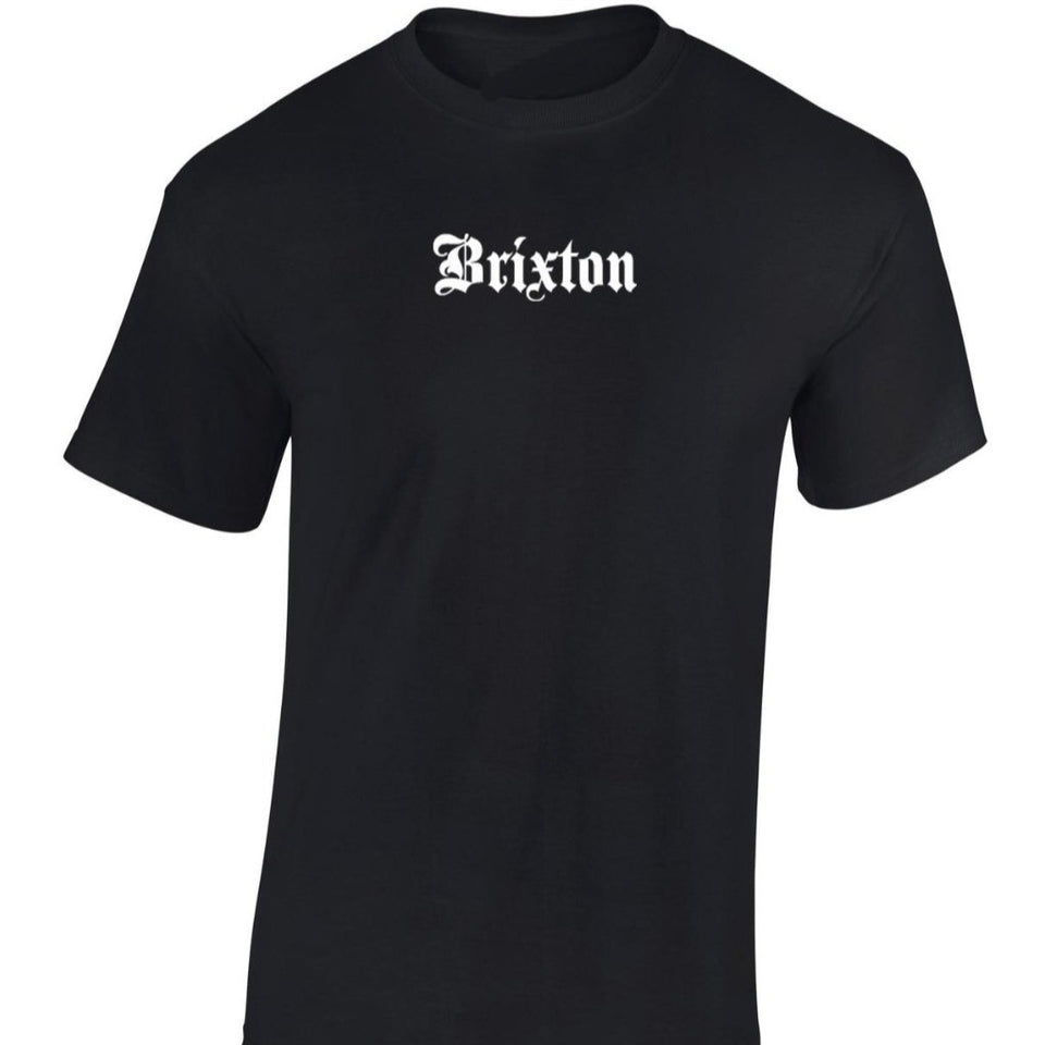 Brixton Unisex Black Cotton T Shirt By Etia Design