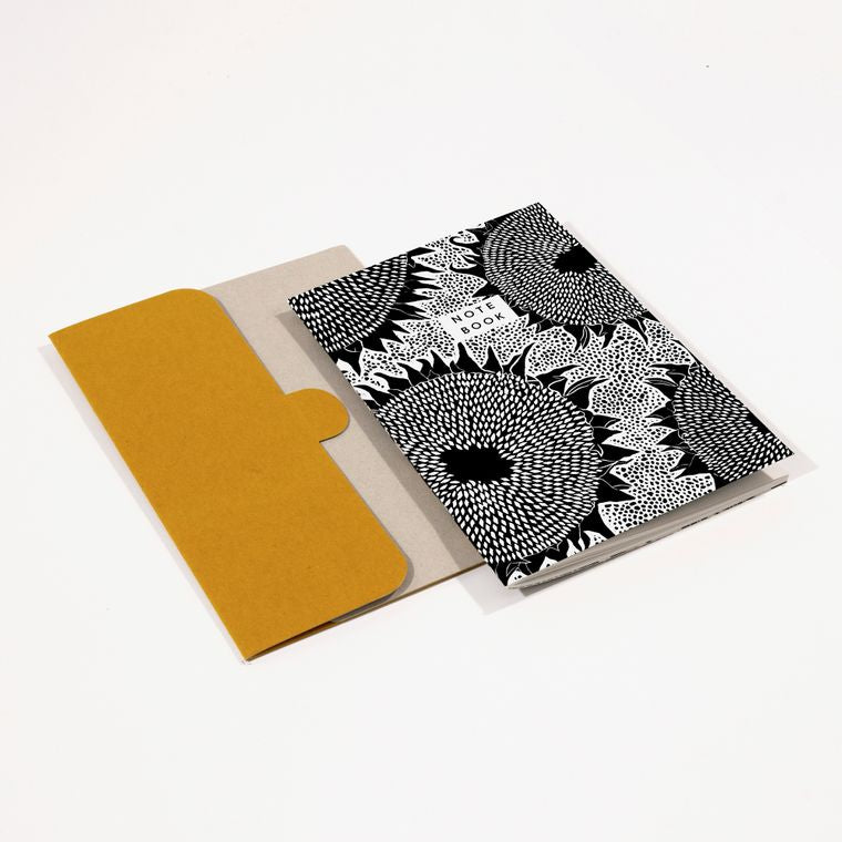 Sunflower monochrome notebook and cover