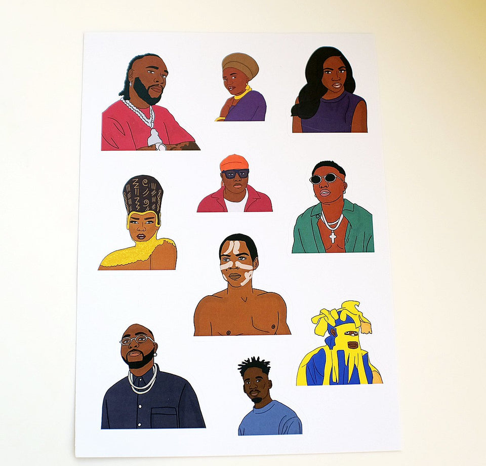 Afrobeats Sticker Sheet (10 pcs)