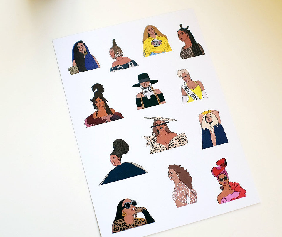 Queen Bey Sticker Sheet